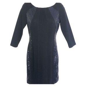 Black & Subtle Sequin Dress